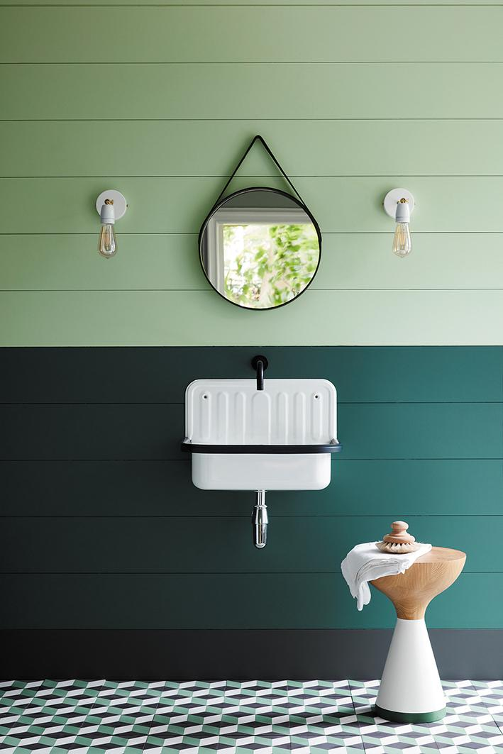 Ambiance peinture Little Greene Three Farm Green 1