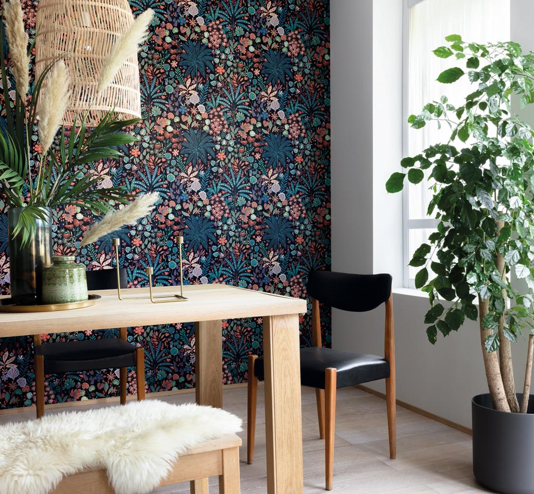Papier peint jungle tropicale Hope multicouleurs - Hygge de Casélio AMB | HYG100599922