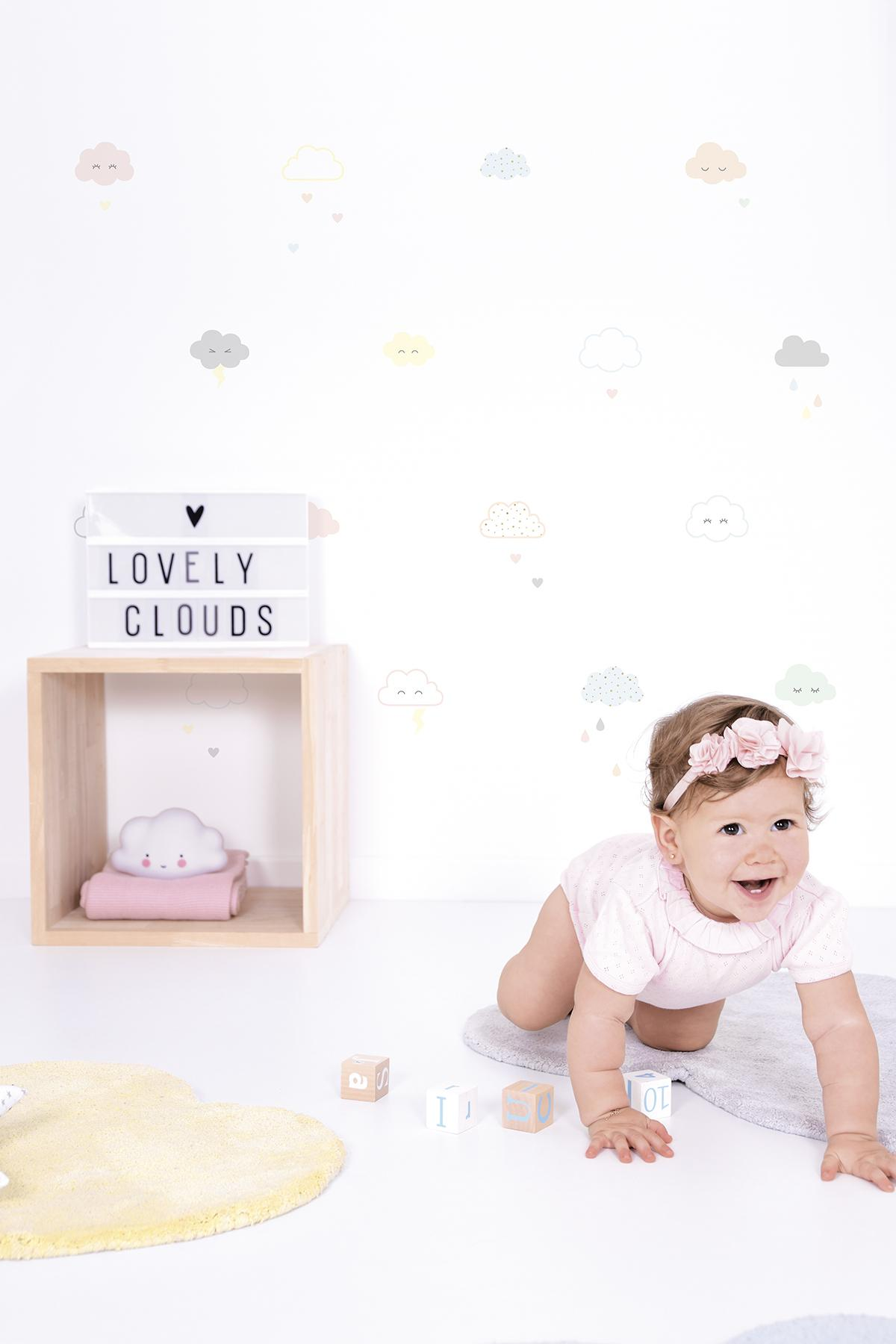 Stickers nuages rieurs pastels - Stickers Lilipinso AMB