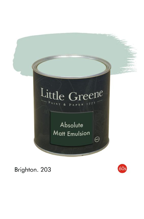 Brighton (1960s) n°203. Peinture Absolute Matt Emulsion Little Greene