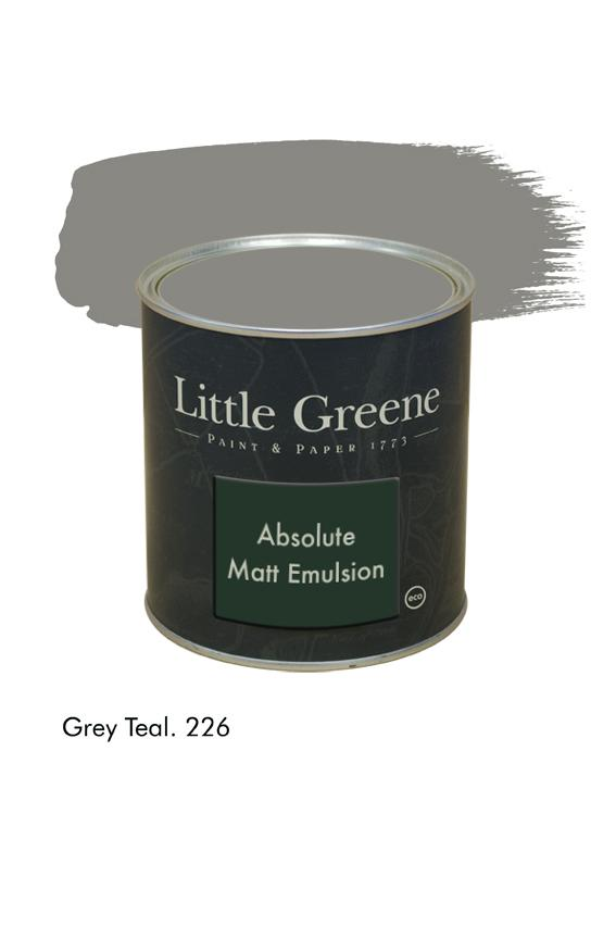 Grey Teal n°226. Peinture Absolute Matt Emulsion Little Greene