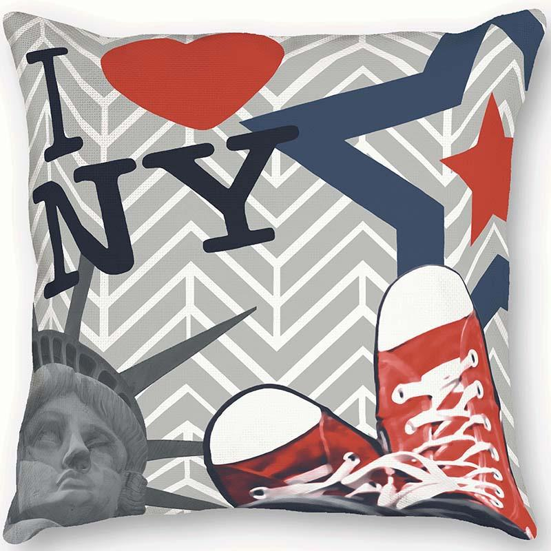 Coussin I love New York - Collection Les Aventures de Lutèce