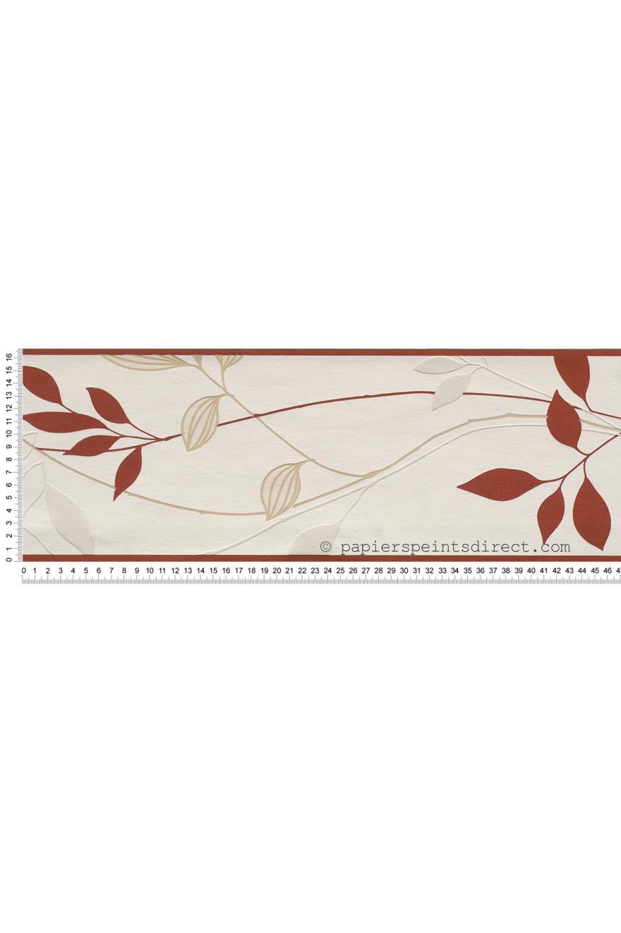 Frise Fresh Garden Rouge - papier peint AS Création