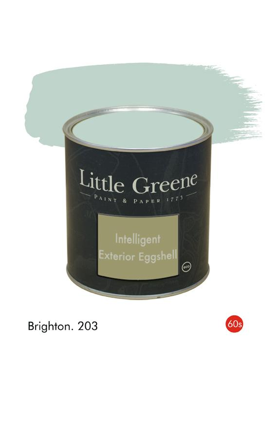 Brighton (1960s) n°203. Peinture Intelligent Exterior Eggshell Little Greene