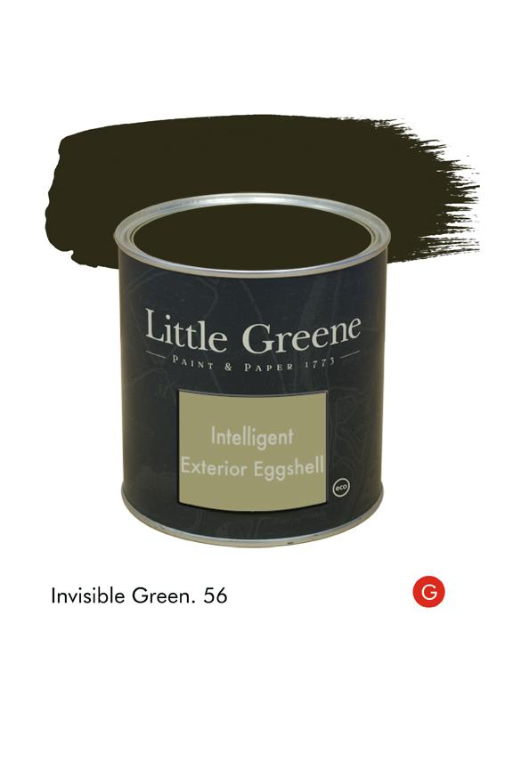 Invisible Green (Georgian) n°56. Peinture Intelligent Exterior Eggshell Little Greene