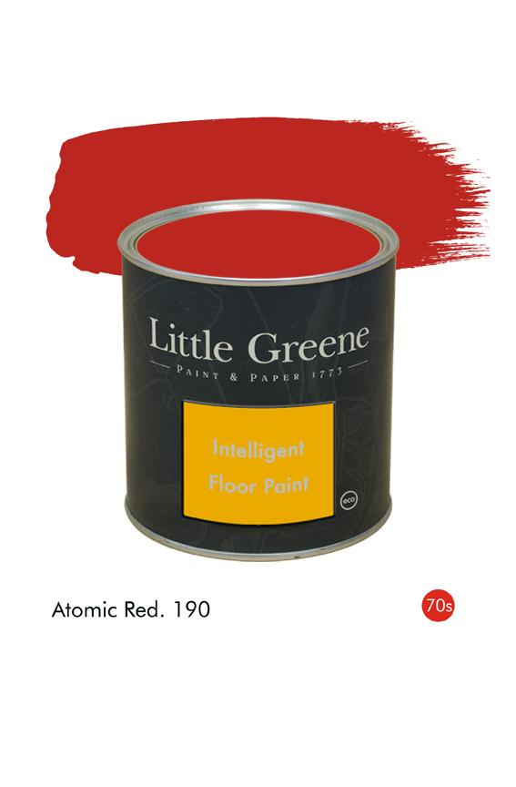 Peinture Intelligent Floor Paint - Atomic Red n°190 - Peinture Little Greene