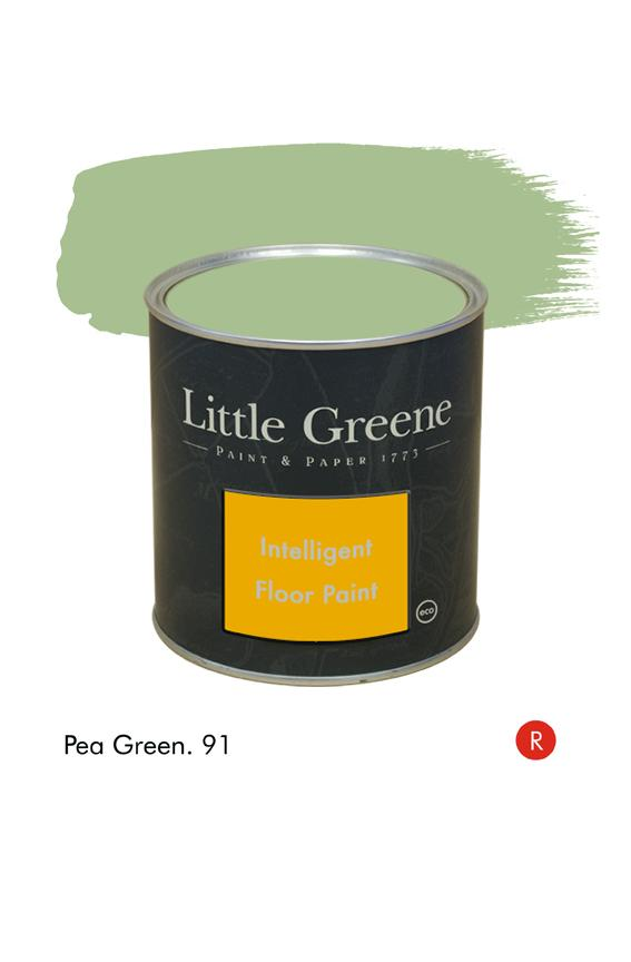 Peinture Intelligent Floor Paint - Pea Green n°91 - Peinture Little Greene