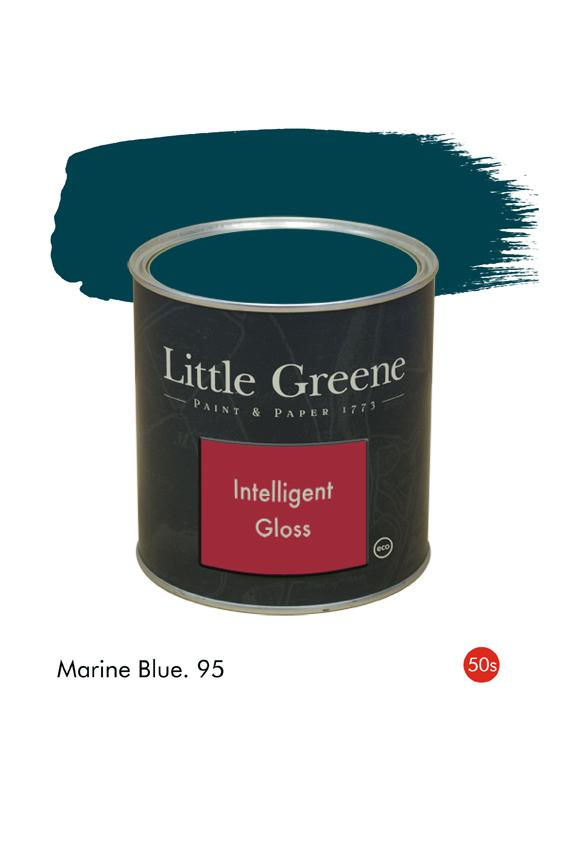 Marine Blue (1950s) n°95. Peinture Intelligent Gloss Little Greene