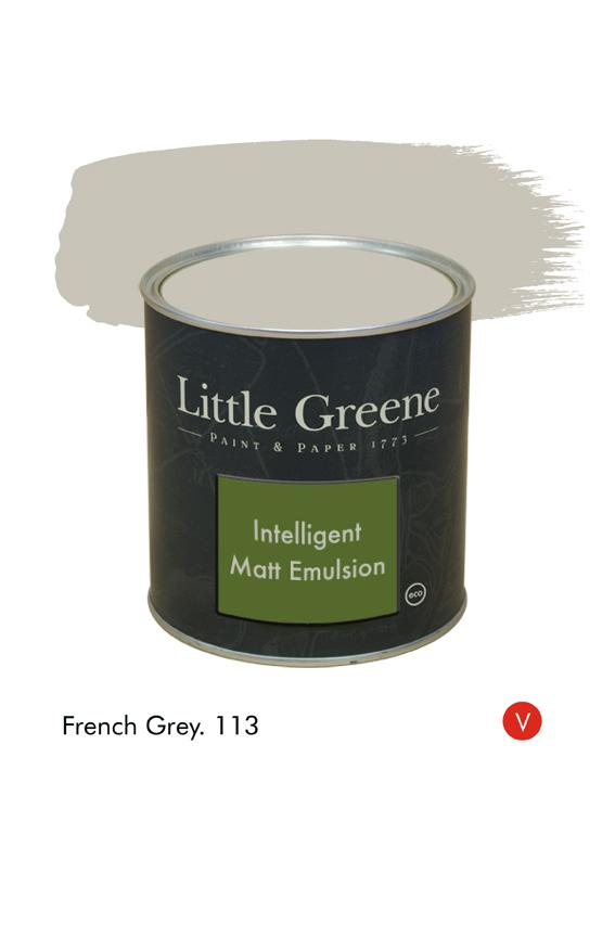 French Grey (Victorian) n°113. Peinture Intelligent Matt Emulsion Little Greene