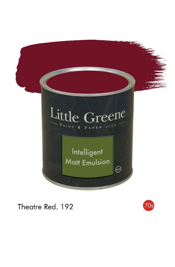 Theatre Red (1970s) n°192. Peinture Intelligent Matt Emulsion Little Greene