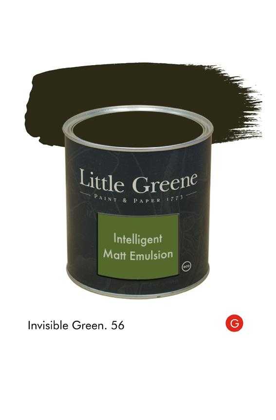 Invisible Green (Georgian) n°56. Peinture Intelligent Matt Emulsion Little Greene