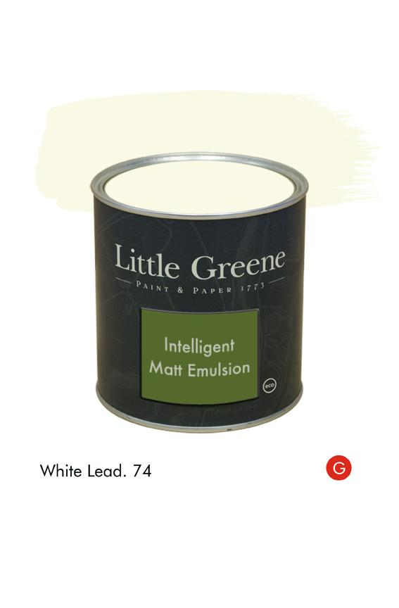 White Lead (Georgian) n°74. Peinture Intelligent Matt Emulsion Little Greene