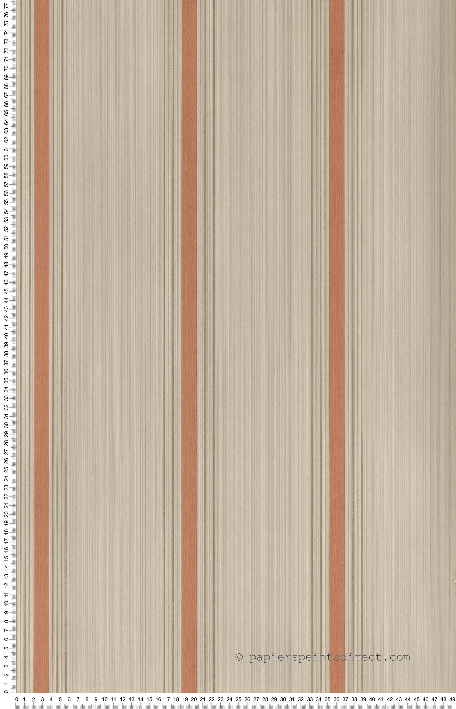 Cavendish stripes Brush red - Painted Papers de Little Greene