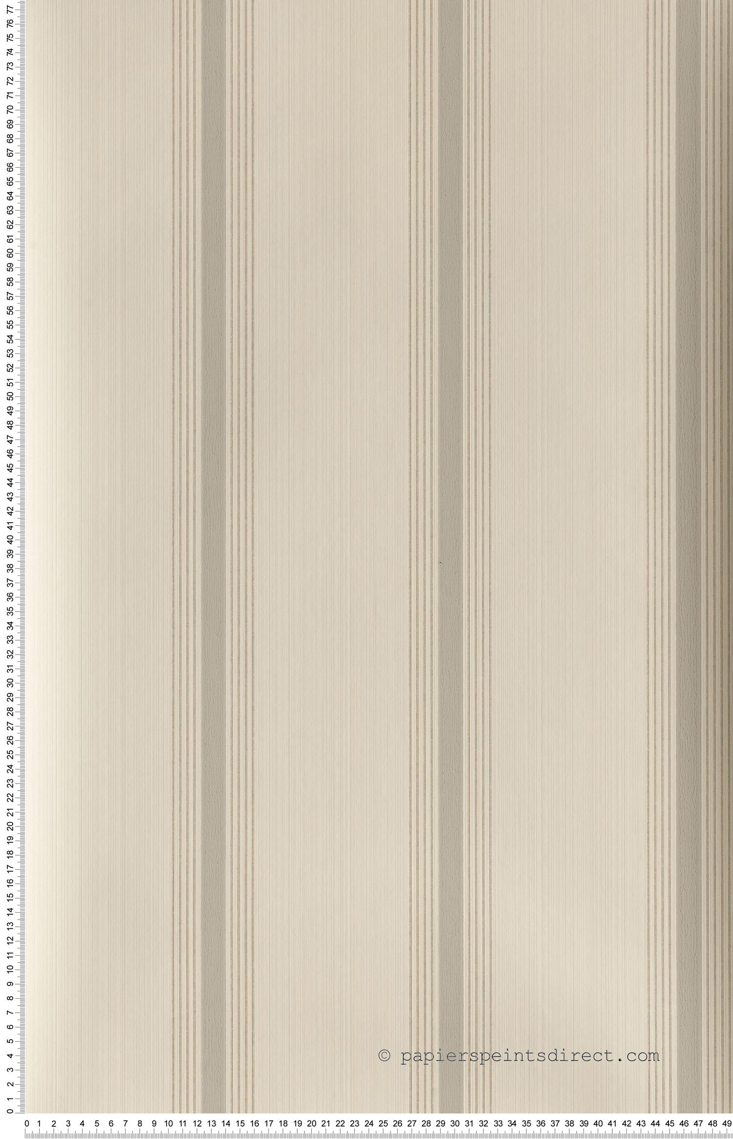 Cavendish stripes Brush stone - Painted Papers de Little Greene