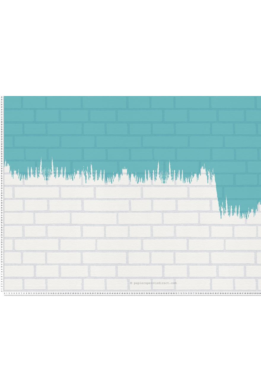 Peindre Un Mur De Brique mur de briques - papier peint à peindre go de montécolino
