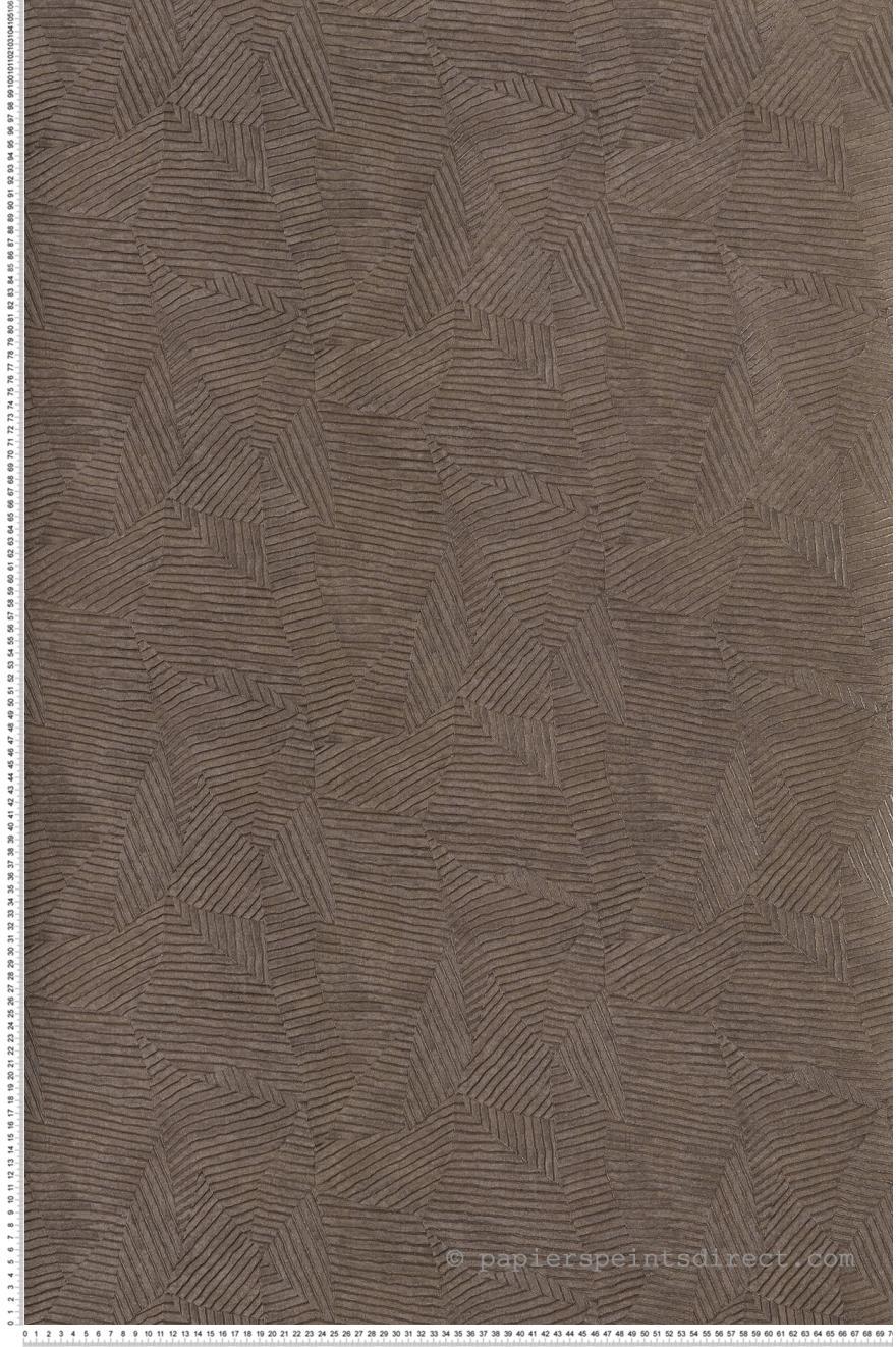 Papier Peint Calathea Feuilles Gris Brun Acajou De Casamance Ref