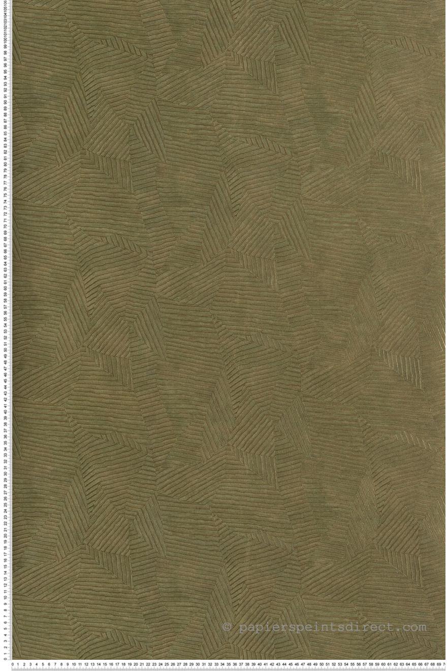 Papier Peint Calathea Feuilles Vert Kaki Acajou De Casamance Ref
