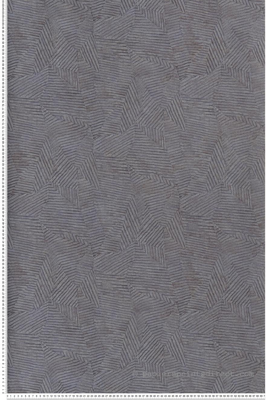 Papier Peint Calathea Feuilles Gris Violet Acajou De Casamance