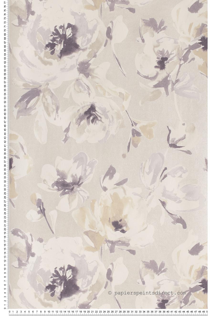 grosses fleurs beiges papier peint amazing de casad co. Black Bedroom Furniture Sets. Home Design Ideas
