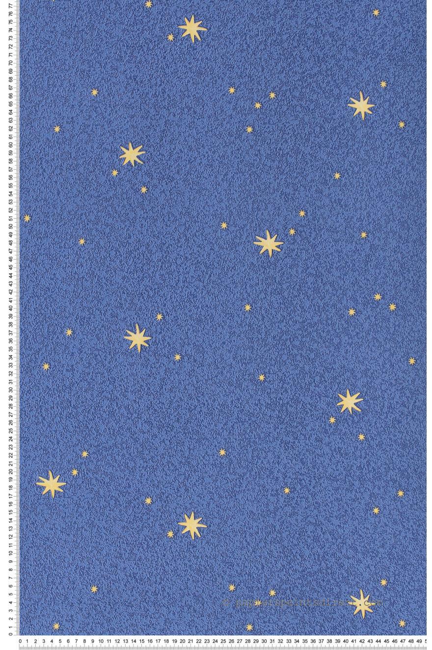 Etoiles phosphorescentes et ciel bleu   Papier peint Dekora Natur