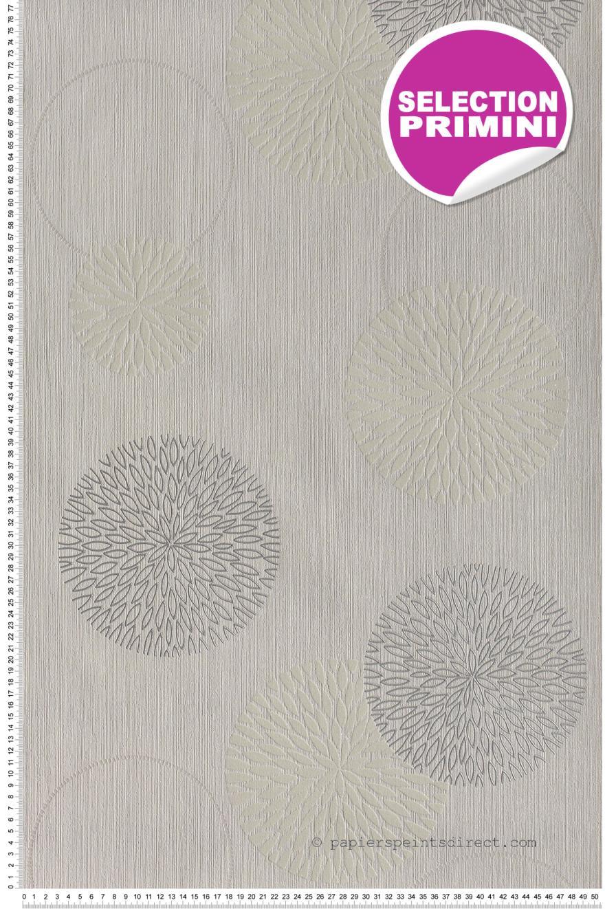 Bulles de fleurs couleur lin - Papier peint AS Création