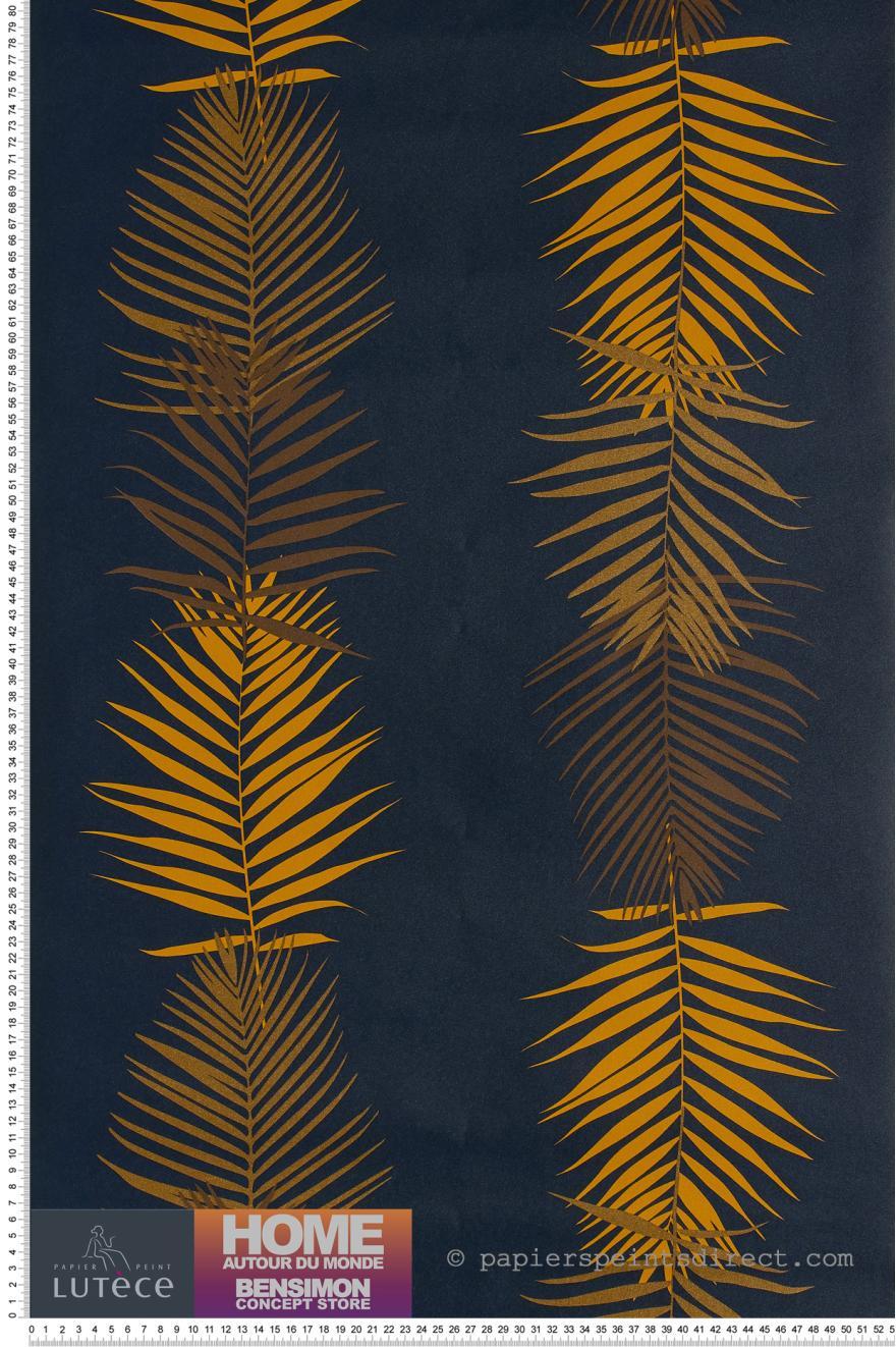 Papier Peint Feuille De Palmier Navy Bensimon De Lutece Ref Ltc