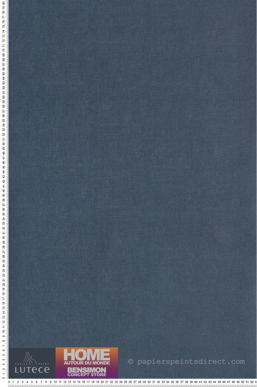 Papier Peint Uni Tisse Bleu Petrole Bensimon De Lutece Ref Ltc