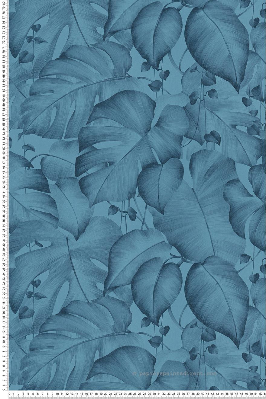 Papier Peint Jungle Monstera Bleu Colibri D As Creation