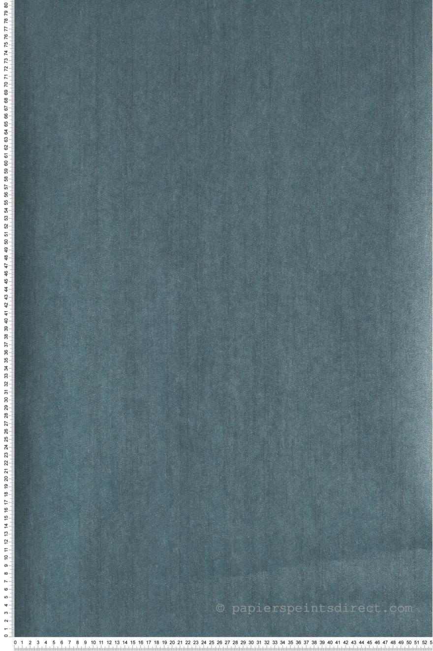 Papier Peint Faux Uni Bleu Canard Vagues Nacrees Dandy De