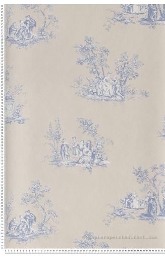 Papier Peint Toile De Jouy Classique Francais Papierspeintsdirect
