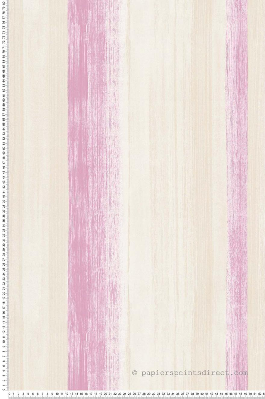 Papier Peint Rayures Rose Et Beige Free Nature As Creation Ref