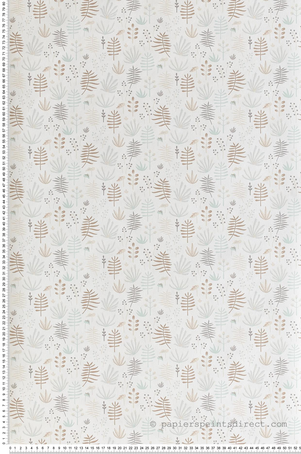 Papier peint enfant Jungle All over bleu beige - Happy Dreams de Casadéco | Réf. HPDM82731209