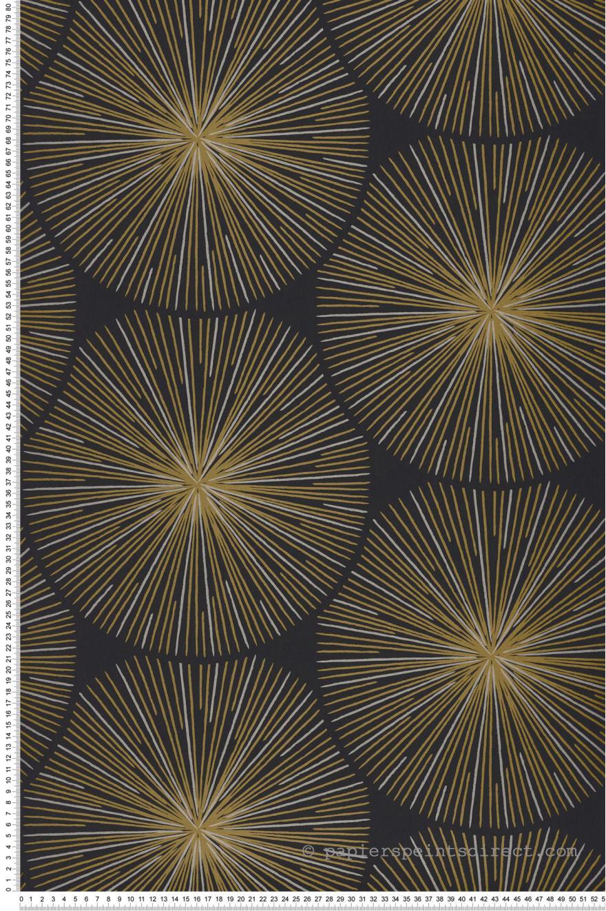 Papier Peint Noir Et Doré : papier peint oursin noir dor helsinki de casad co r f hels82049512 ~ Melissatoandfro.com Idées de Décoration