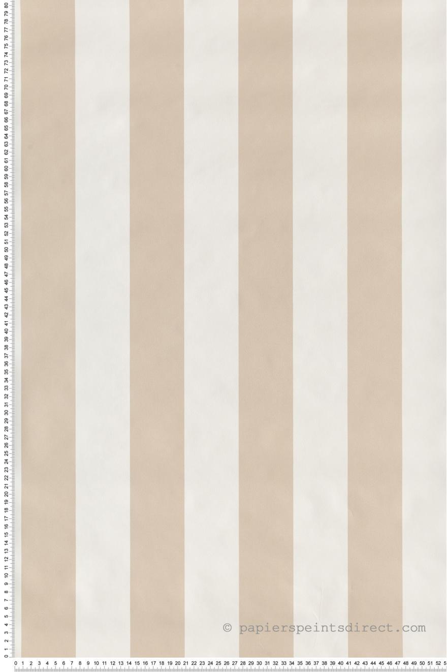 Papier Peint Rayures Classiques Beige Blanc Jeux De Rayures 2 De