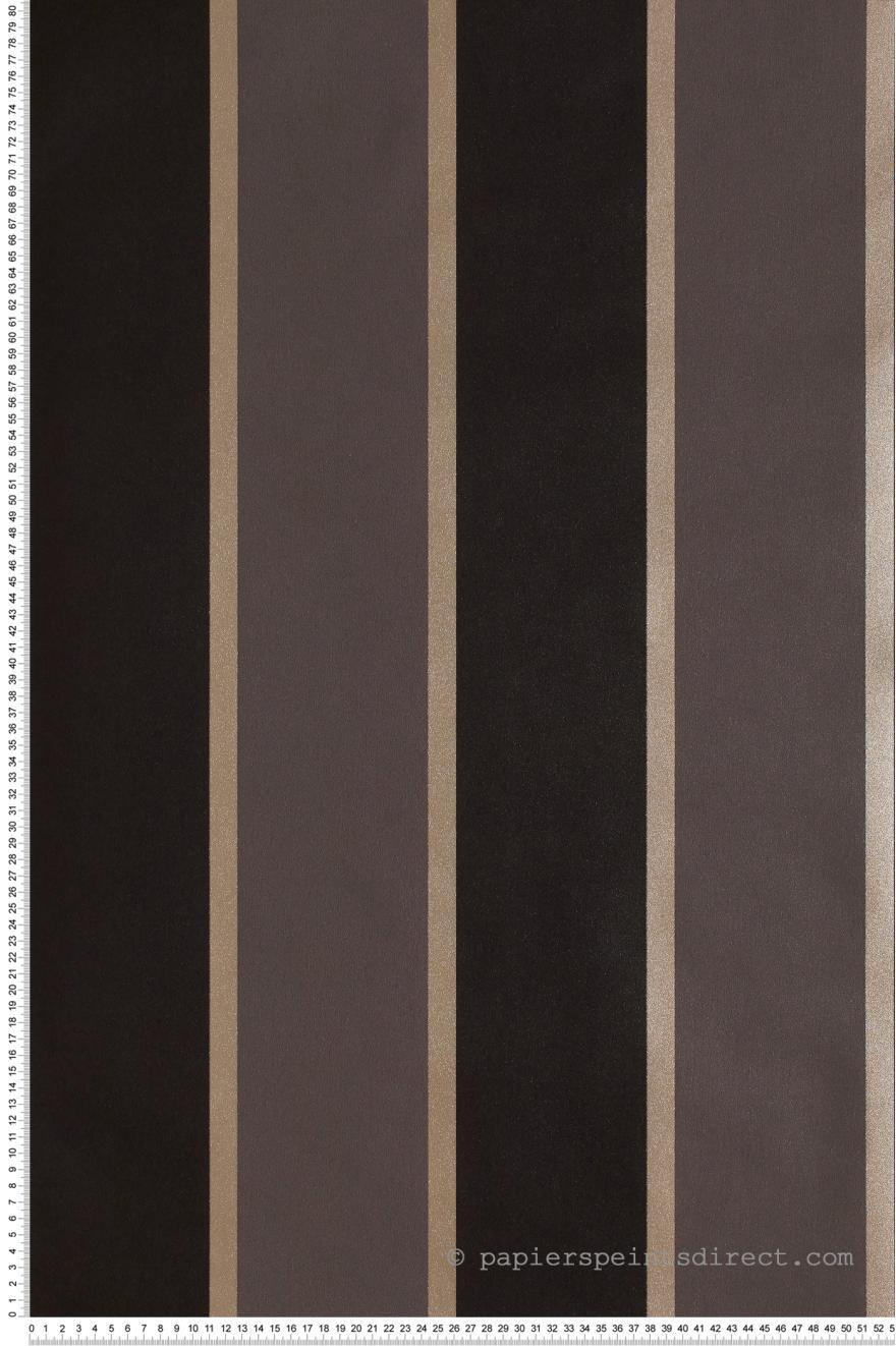 Papier Peint Rayures Larges Bordees Noir Gris Jeux De Rayures 2 De