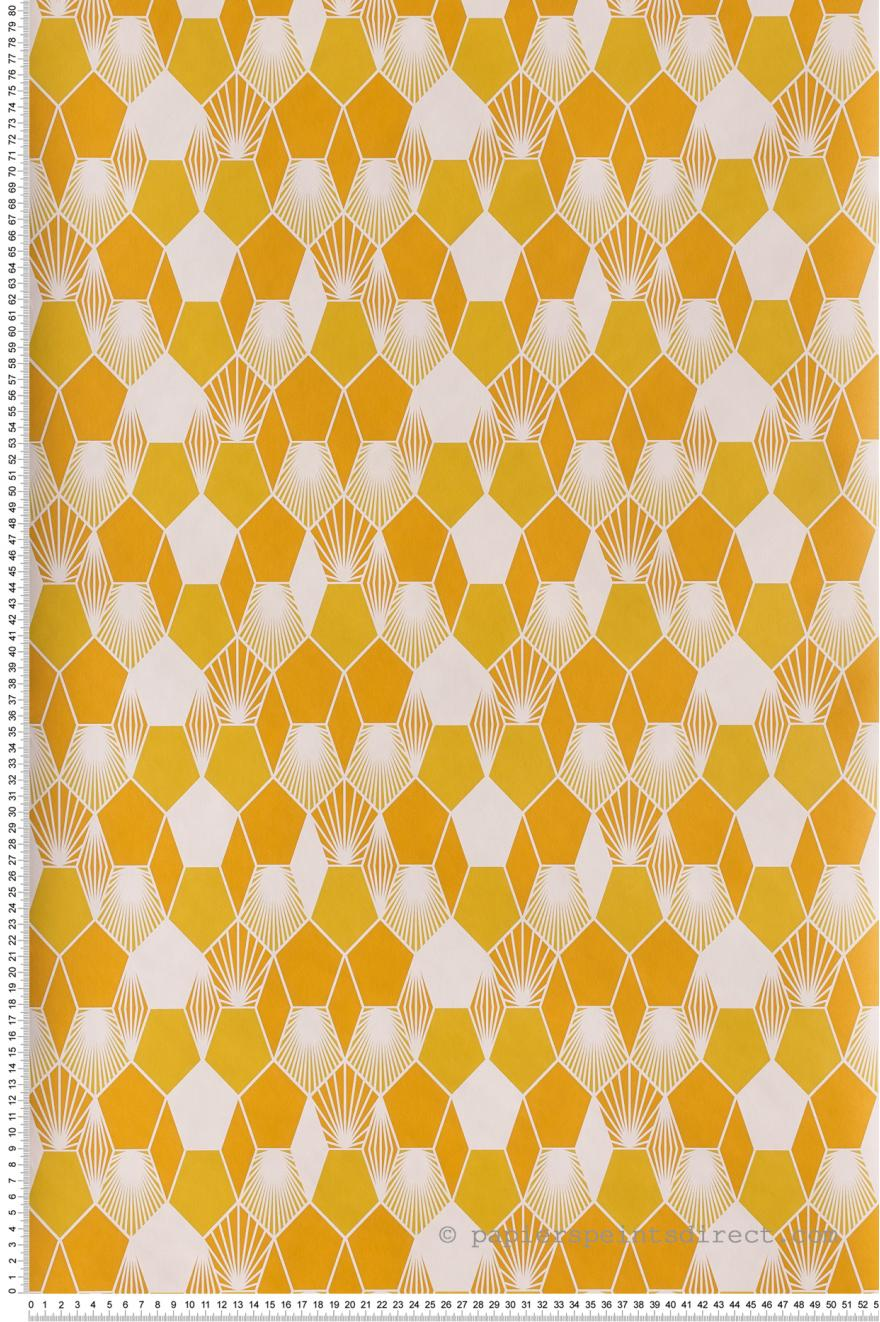 Papier Peint Hamac Jaune Et Orange Jungle De Caselio Ref