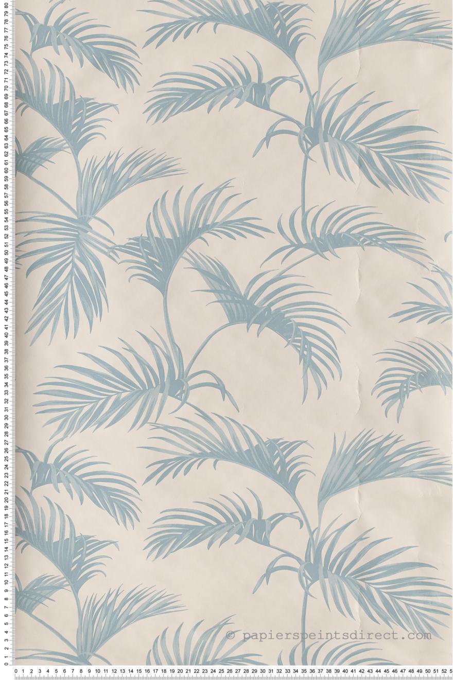 Papier Peint Palmes Bleu Givre Jungle De Caselio Ref Jun100039000