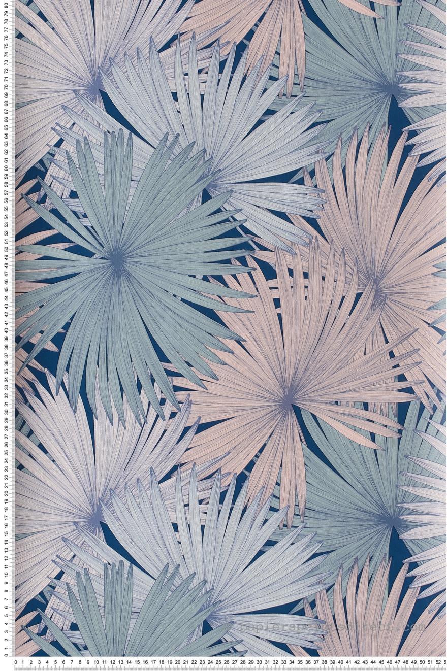 Papier Peint Coconut Bleu Jungle De Caselio Ref Jun100046919