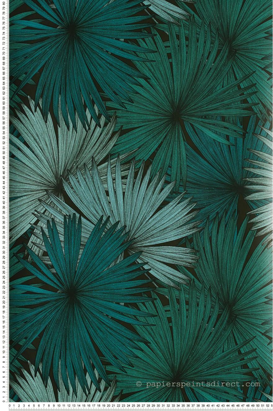 Papier Peint Coconut Vert Et Noir Jungle De Caselio Ref