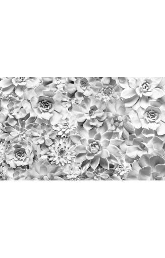 Papier Peint Noir Et Blanc Fleurs Papierspeintsdirect