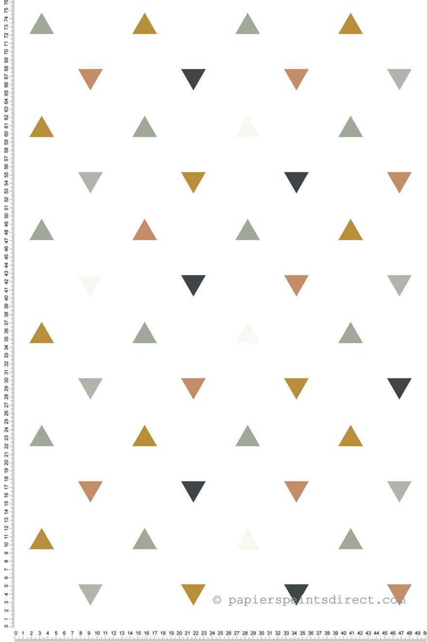 Triangles Gris Ocre Papier Peint De Lilipinso