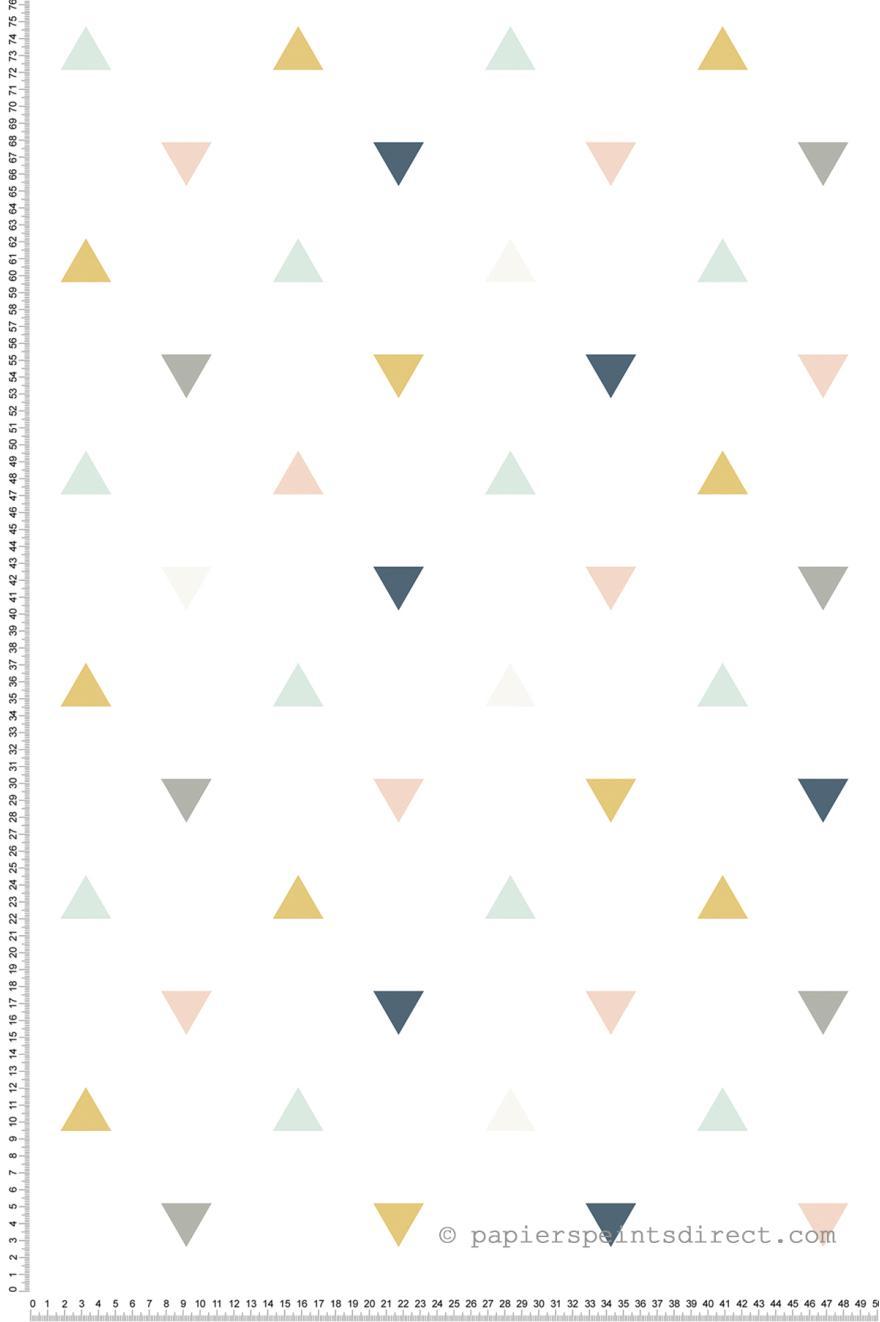 triangles vert d 39 eau rose papier peint de lilipinso. Black Bedroom Furniture Sets. Home Design Ideas