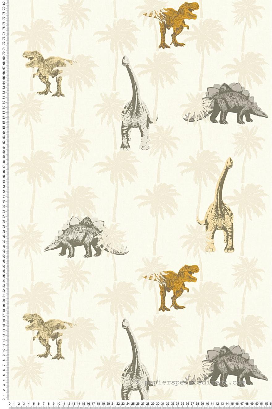 Papier Peint Dinosaure Orange Little Stars De As Creation