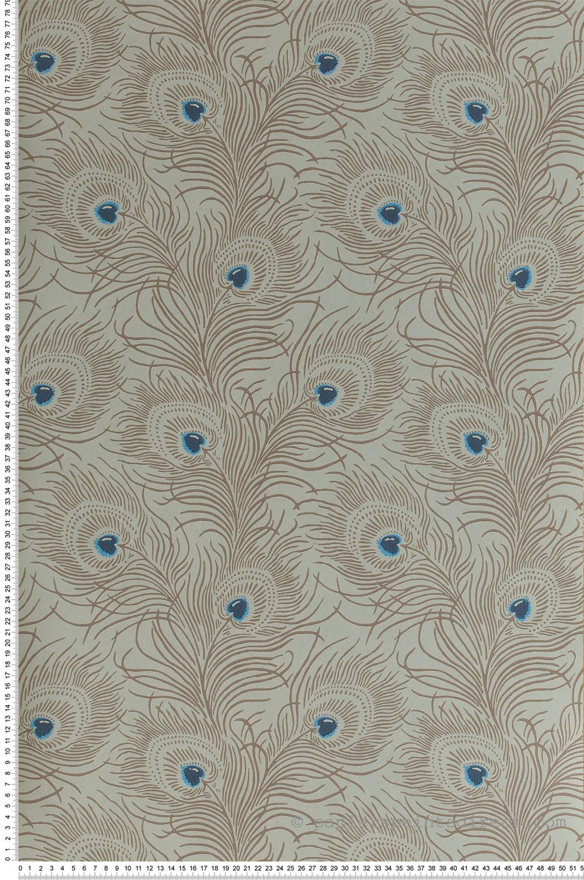 Papier peint Carlton House Terrace Copper - Collection London Wallpapers V de Little Greene