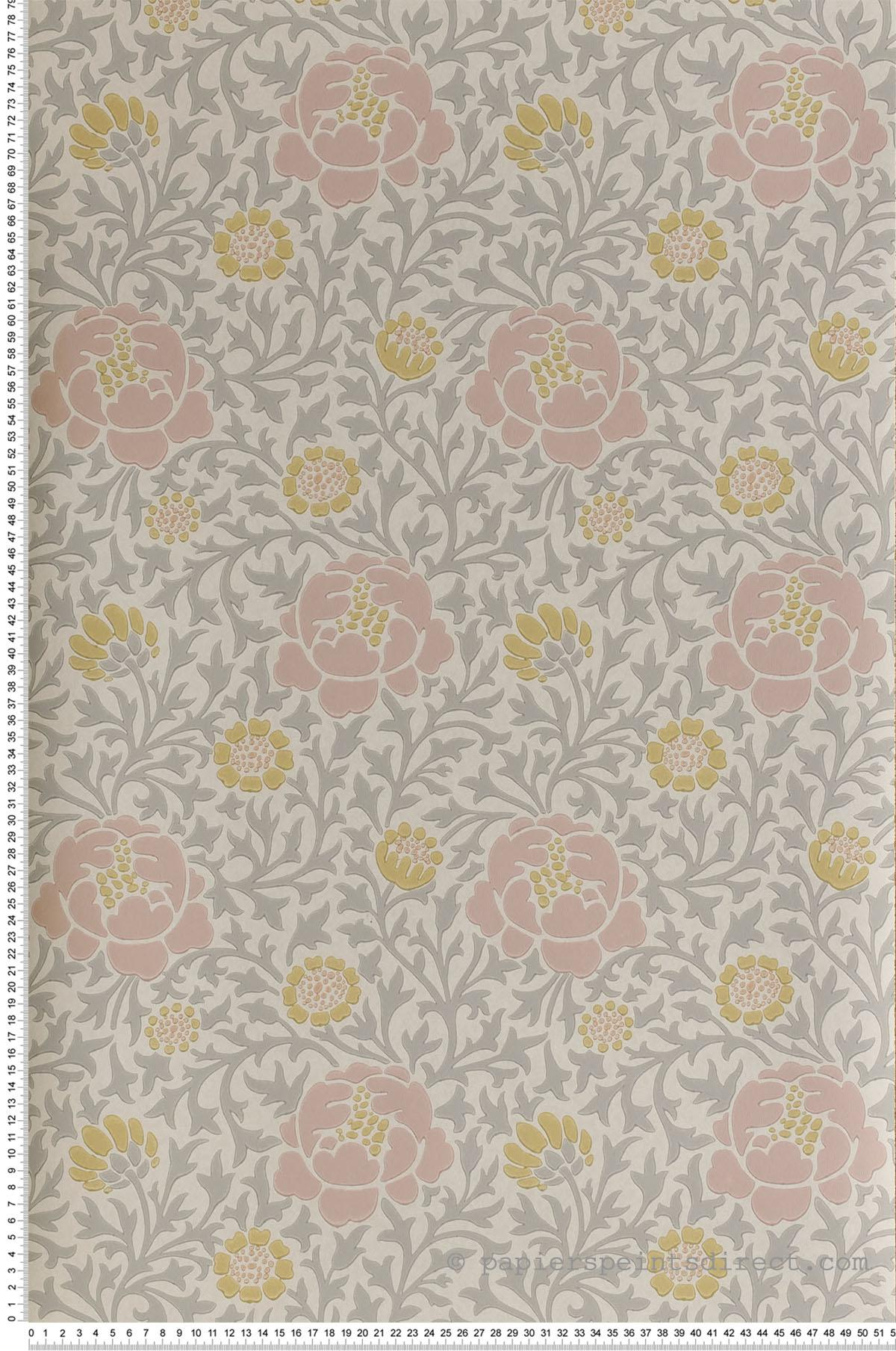 Papier peint Lansdowne Walk Nordic - Collection London Wallpapers V de Little Greene