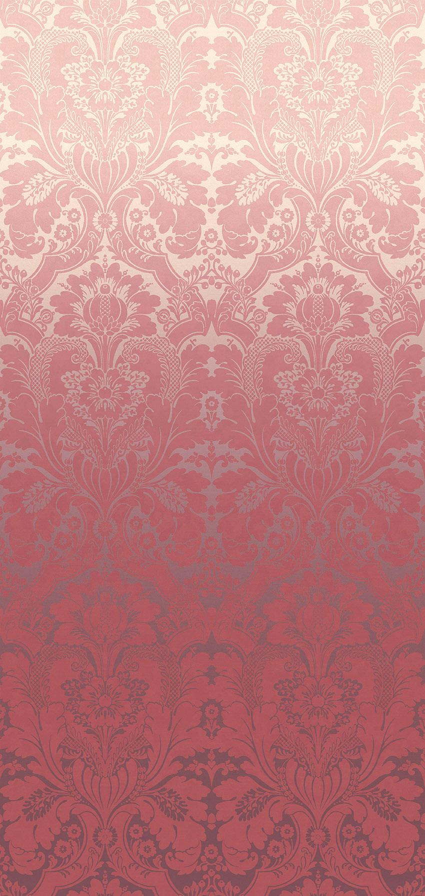 Papier peint St James's Park Cherry Fade - Collection London Wallpapers V de Little Greene