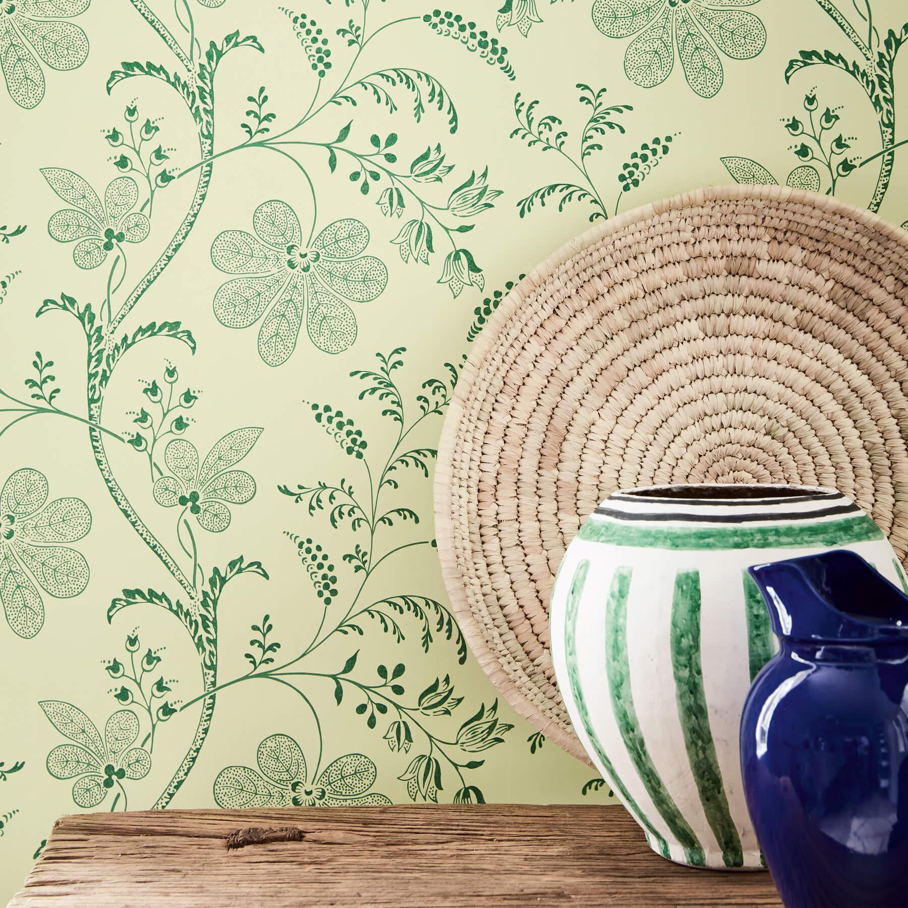 Papier peint Bedford Square Acorn - Collection London Wallpapers V de Little Greene AMB