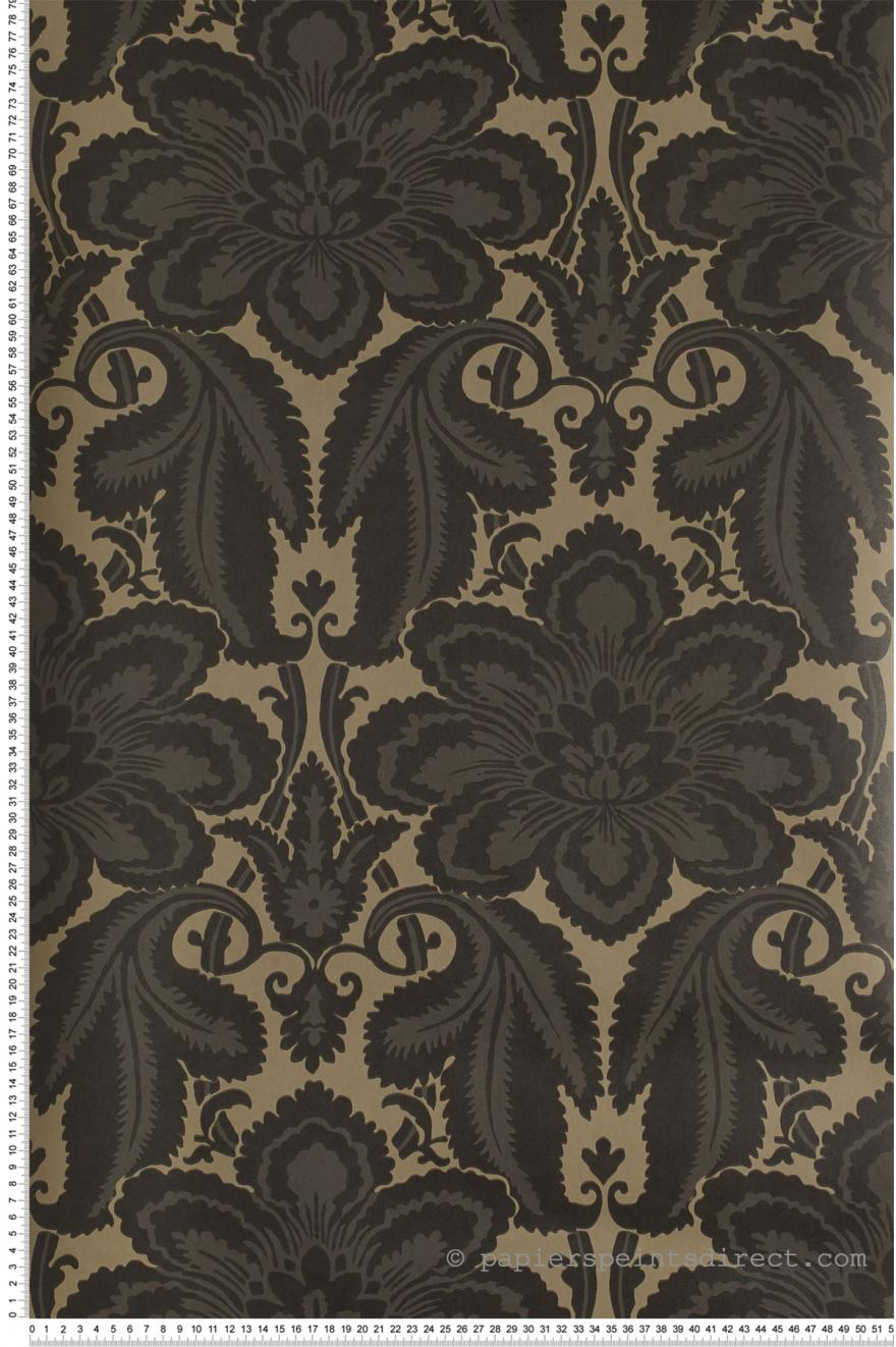 albemarle noir papier peint london wallpapers iv de little greene. Black Bedroom Furniture Sets. Home Design Ideas