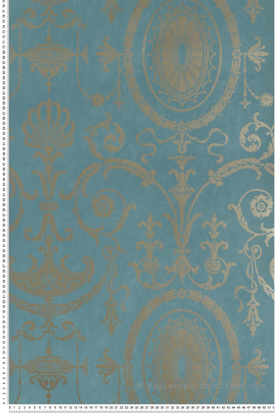 Pall Mall Bleu Canard Papier Peint London Wallpapers Iv De Little