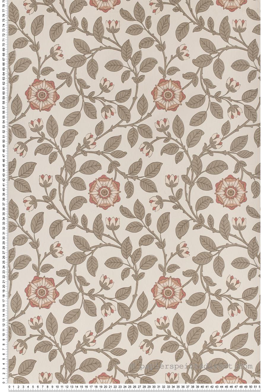 Richmond Green Grege Et Rose Papier Peint London Wallpapers Iv De